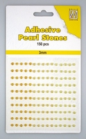 Nellie Snellen Adhesive pearls APS304 3-colors - Yellow/gold