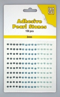 Nellie Snellen Adhesive pearls APS303 3-colors - Blue