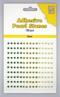 Nellie Snellen Adhesive pearls APS302 3-colors - Green