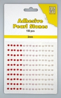 Nellie Snellen Adhesive pearls APS301 3-colors - Red