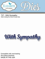 Elizabeth Craft design Die 737 With Sympathy