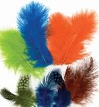 Veren Marabou & Guinea Fowl mix 12229-2906 Ass.Mix,Neon