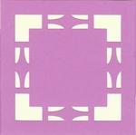Vierkante Stans Kaarten Tophobby TK-24 vierkantje lila