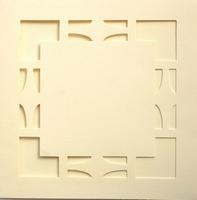 Vierkante Stans Kaarten Tophobby TK-24 vierkantje ivoor