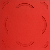 Vierkante Stans Kaarten Tophobby TK-23 boogje rood
