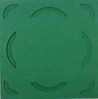Vierkante Stans Kaarten Tophobby TK-23 boogje groen