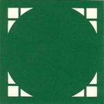 Vierkante Stans Kaarten Tophobby TK-27 cirkel wit