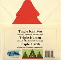 Vierkante Stans Kaarten Tophobby TK-41-3 Tripple boom rood