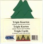 Vierkante Stans Kaarten Tophobby TK-41-3 Tripple boom ivoor
