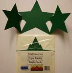 Vierkante Stans Kaarten Tophobby TK-41-1 Tripple ster rood