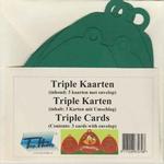 Vierkante Stans Kaarten Tophobby TK-41-2 Tripple klok ivoor