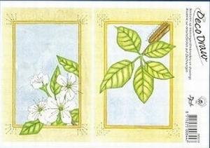 Deco Draw Borduurkaart DD016 Bloesem