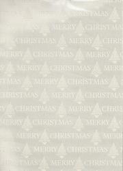 A4 Karton Merry Christmas 39051 Zilver