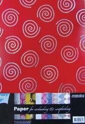 Joy! A4 Papierset 8011-0403 Sterren / Swirls