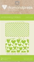 Diamond Press DP1101 Embossing folder Harten & Swiss dots