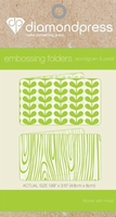 Diamond Press DP1104 Embossing folder Houtnerf & bloemblaadj
