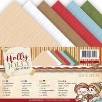Yvonne Creations Linnenpakket A5 YC10011 Holly Jolly