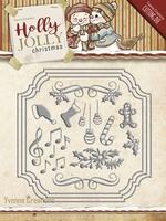 Yvonne's Die YCD10068 Holly Jolly Card Set