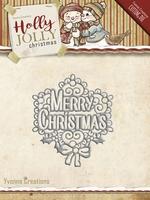 Yvonne's Die YCD10075 Holly Jolly Merry Christmas