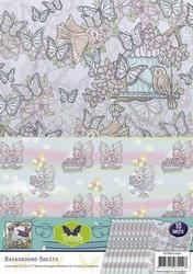 Background vel SETBGS10005 Butterfly