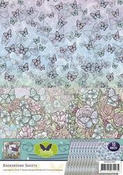 Background vel SETBGS10006 Butterfly