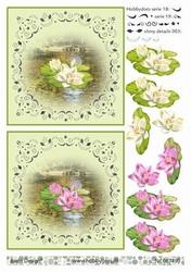 A4 DOTS Knipvel Barto Design 67490 Waterlelie wit-roze