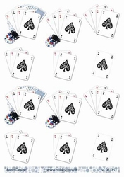 A4 Knipvel Barto Design 67351 Speelkaarten