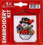 Creamotion BK438499 borduurkit Sneeuwman