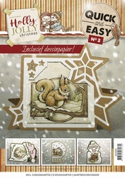 Yvonne Creations Quick and Easy 2 QAE10002 Holly Jolly ster