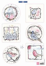 MD A4 Knipvel MM1602 Pastel birds