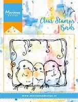 MD Clear stamps MM1609 3 Birds/3 vogeltjes