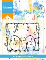 MD Clear stamps MM1609 3 Birds/3 vogeltjes