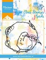 MD Clear stamps MM1610 Birds & leaves/vogeltjes & blaadjes