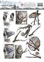 3D Stansvel Amy Design SB10128 Wintertide Owl/uil