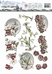 3D Stansvel Amy Design SB10126 Wintertide Flowers