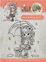 Yvonne Lilly Luna 1 Clearstamp LLCS10001 Walking in the Rain