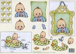3D Knipvel Vera Smit 99010/18 Geboorte/Baby blauw