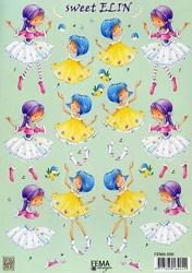 A4 Knipvel FEMA design 009 Sweet Elin met vogeltje