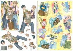 3D Knipvel Jalekro Teenagers 99017/05 Vrienden