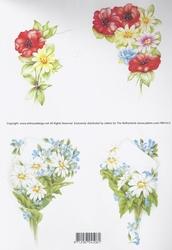 3D Knipvel Jalekro Bloemen 99010/02 Rood/blauw/geel
