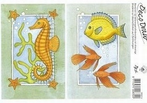 Deco Draw Borduurkaart DD014 Zeepaardje