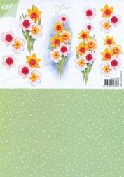 A4 Knipvel Joy 3D Flowers 6010/1009 Duo