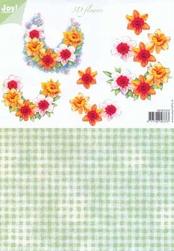A4 Knipvel Joy 3D Flowers 6010/1010 Duo