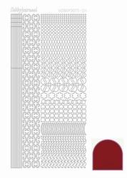 Stickervel Hobbydots Mirror STDM114 red/rood