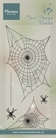 MD Clear stamps TC0841 Tiny's border Spider web