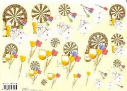 Knipvel A4 Mireille E683 Heren/Darts