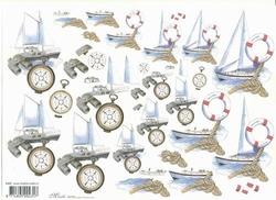 Knipvel A4 Mireille E689 Heren/Bootjes en kompas