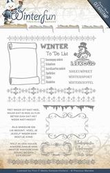 Precious Marieke's Clear Stamp PMCS10015 Winterfun Tekst