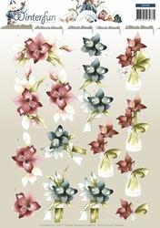 3D Knipvel Precious Marieke CD10786 Winterfun Winterflower