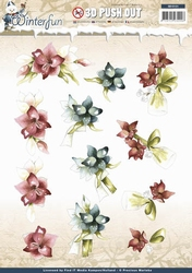 3D Stansvel Precious Marieke SB10131 Winterfun Winterflower